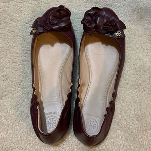 Tory Burch Minnie in port size 8 worn once